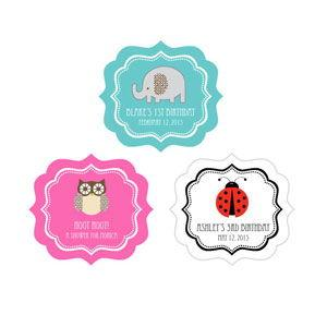 Baby Animal Frame Personalized Labels image
