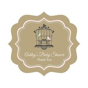 Birdcage Party Frame Personalized Labels image