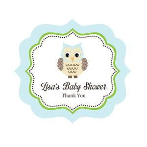 Blue Owl Frame Personalized Labels image