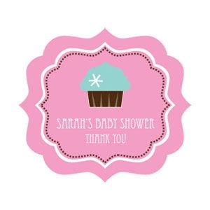 Cupcake Party Frame Personalized Labels image