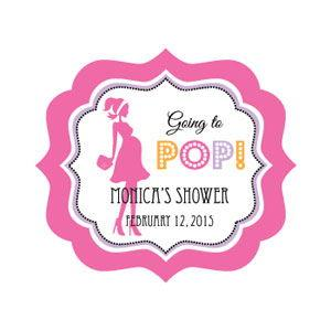 Going to Pop Pink Elephant Frame Personalized Labels image