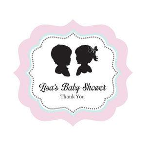 Gender Reveal Party Frame Personalized Labels image