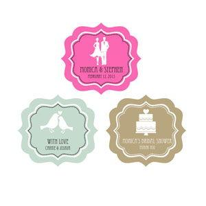 MOD Theme Silhouette Frame Personalized Labels image