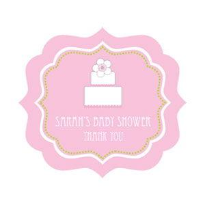 Pink Cake Frame Personalized Labels image