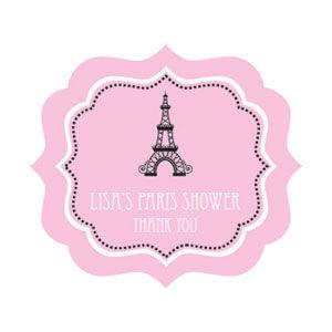Parisian Party Frame Personalized Labels image