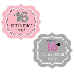 Personalized Sweet 16 or 15 Frame Labels image
