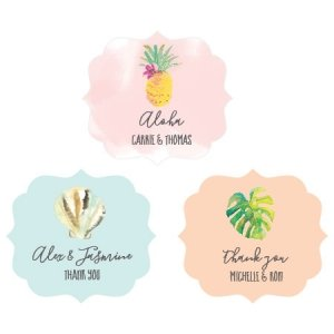 Personalized Tropical Beach Frame Labels image