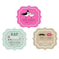 Personalized Wedding Labels - Frame Design