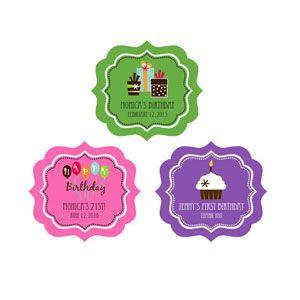 Personalized Birthday Frame Labels image