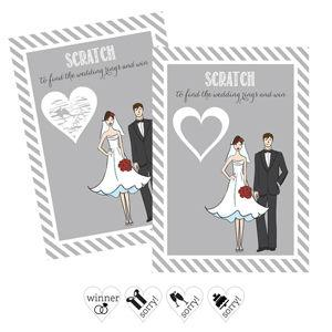 Bride Groom Scratch Off Game Cards (Set of 12) image