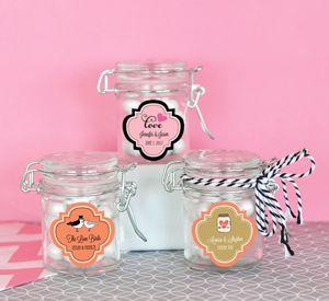 Personalized Theme Glass Jar with Swing Top Lid - MINI image