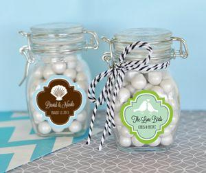 Personalized MOD Pattern Theme Glass Jar with Swing Top_Lid image