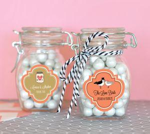 Personalized Theme Glass Jar with Swing Top Lid - SMALL image