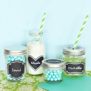 Vinyl Chalkboard Wedding Favor Labels (Set of 24) image