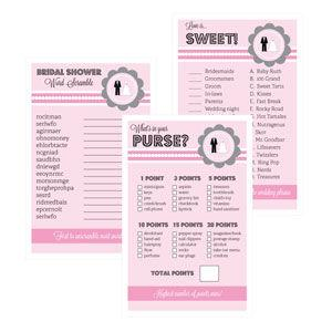 Bridal Shower Games (Set of 10) - Wedding Shower image