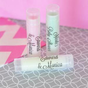 Personalized Lip Balm Tubes with Clear Labels image