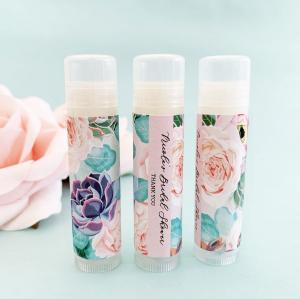 Personalized Succulent Lip Balm Tubes image