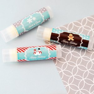 Personalized Winter Holiday Lip Balm Tubes image