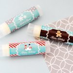 Personalized Winter Holiday Lip Balm Tubes