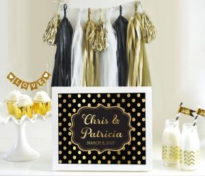 Custom Text Sign – Metallic Foil image