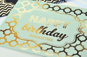 Personalized Typography Foil Print Birthday Sign image