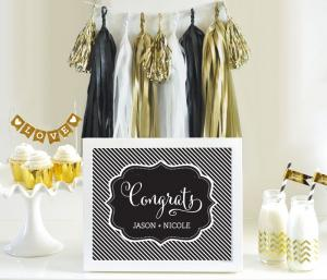Personalized Typography Wedding Sign image