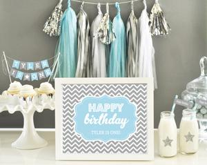Personalized Typography Birthday Sign image