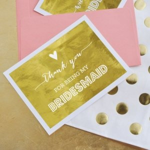 Bridesmaid & Maid of Honor Thank You Cards (Set of 4) image