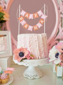 Personalized Cake Bunting Banners image