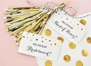 Will You Be My....? Tags & Tassels (set of 6) image