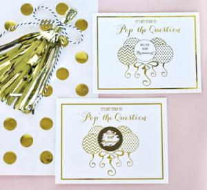 Pop The Question Bridesmaid Cards (set of 8) image