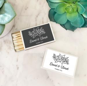 Floral Silhouette Matchboxes (set of 50) image