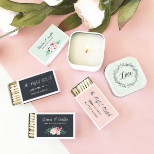 Personalized Floral Garden Match Boxes (set of 50) image