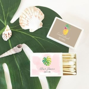 Personalized Tropical Beach Match Boxes (set of 50) image