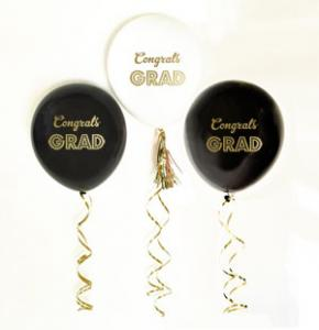 Gold Graduation Balloons (set of 3) image