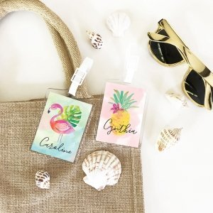 Tropical Personalized Luggage Tags image