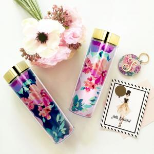 Blank Floral Tall Tumblers image