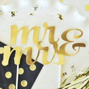 Celebration Gold Cake Topper (Many Designs & Occasions) image