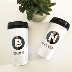 Black & White Travel Mugs image