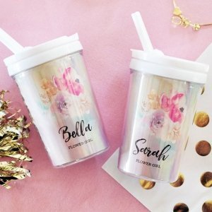 Flower Girl Personalized Sippy Cups image