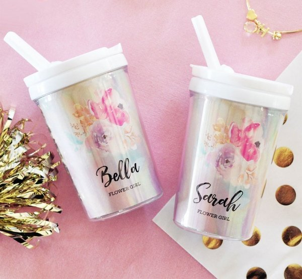 Ring Bearer cup Personalized Flower girl cup personalized ringbearer cup wedding party bottle flower girl water bottle wedding favor