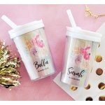 Flower Girl Personalized Sippy Cups