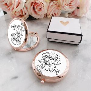 Personalized Floral Doodle Compacts image