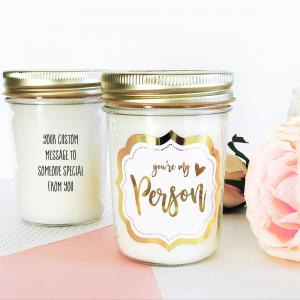 Theme Mason Jar Candle - Gold Foil image