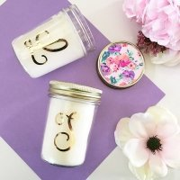 Monogram Mason Jar Candle Gift