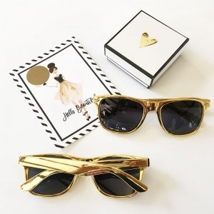 Metallic Sunglasses Favors - 3 Colors image
