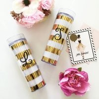 Bold Stripes Monogram Tumbler