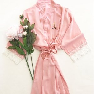 Monogram Cotton Lace Robes image