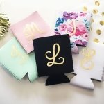 Monogrammed Can Coolers (Set of 6)