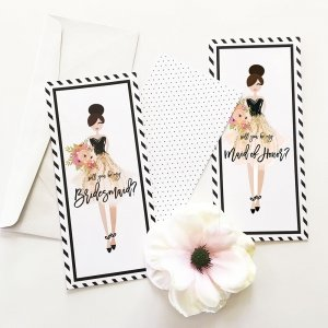 Bridesmaid & Maid of Honor Proposal Cards (Set of 4) image